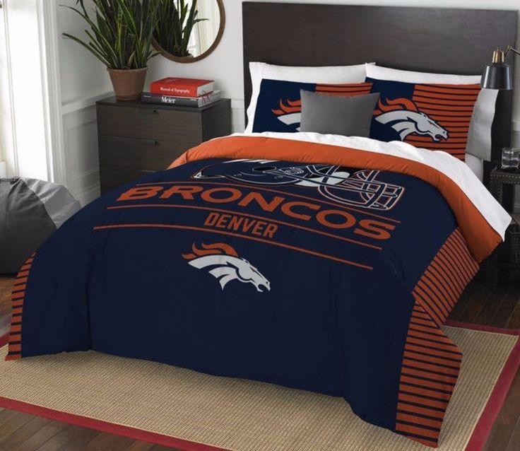 #NFL #Denver #Broncos Draft Full/Queen 3-piece Comforter Set #NFL