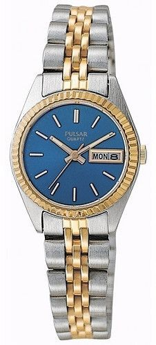 Pulsar PXX010 Women's Blue Dial Two Tone Stainless Steel Watch