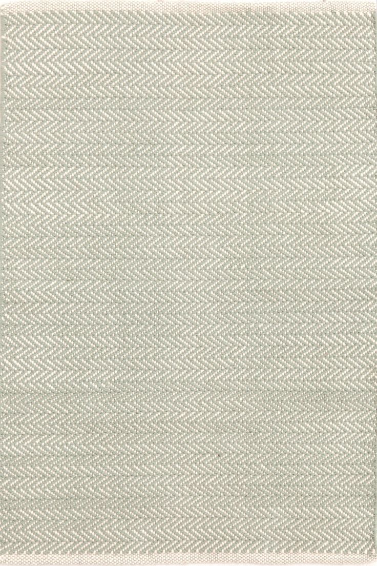 Dash & Albert | Herringbone Ocean Woven Cotton Rug | You asked, and we listened! Another terrific Dash & Albert lightweight woven cotton area rug, this time in a classic herringbone pattern.