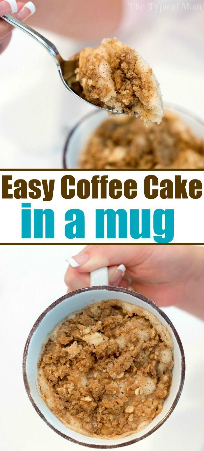 Easy mug cake recipe like coffee cake in a mug! Perfect 1 ...