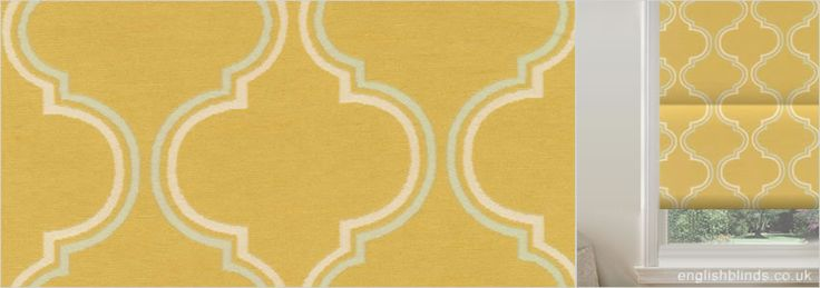King Lear Gold Orange Yellow Roman Blinds - Wide