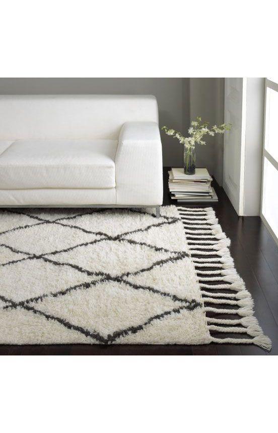 Rugs Usa Marrakesh Shag Natural Rug 100 Wool Hand Made