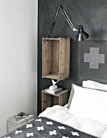 Arredare la camera da letto con le cassette di legno! 20 idee per ispirarvi…