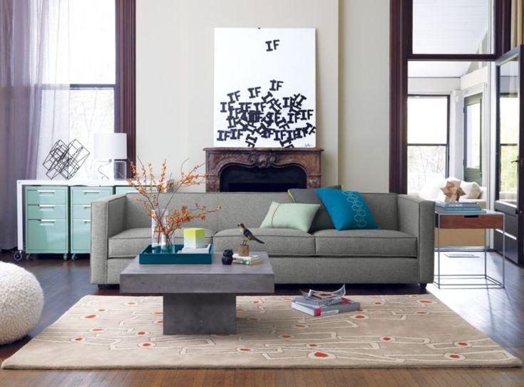 club grey 3-seater sofa  | CB2