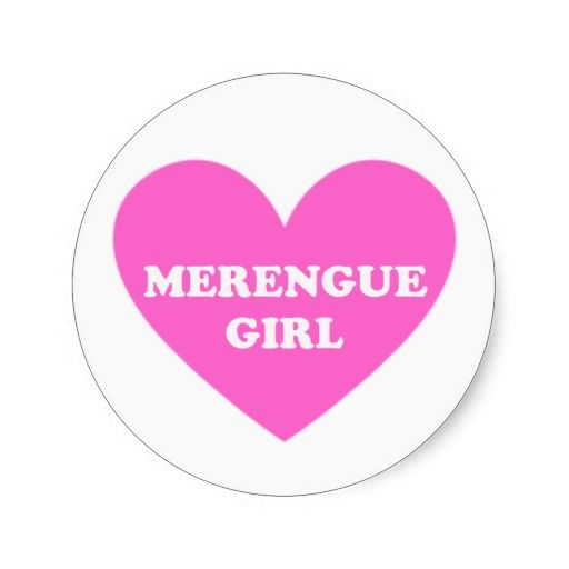 Merengue Girl Stickers