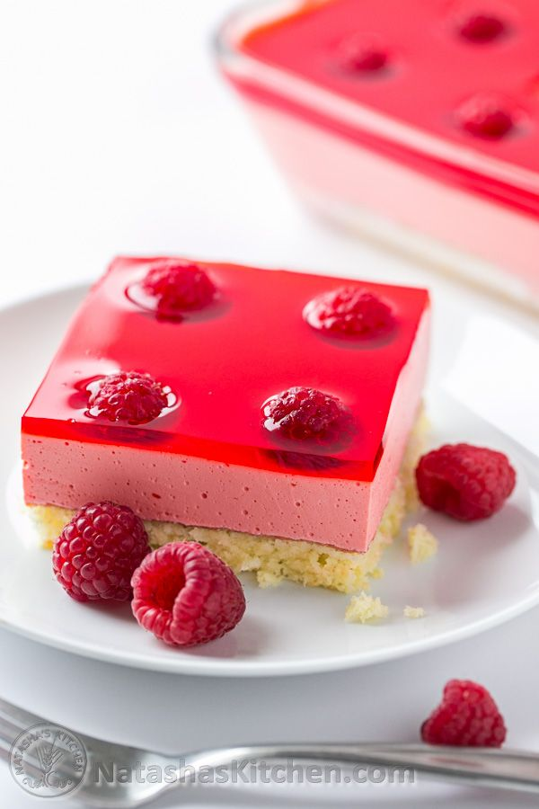 Raspberry Jello Cake Recipe - @natashaskitchen