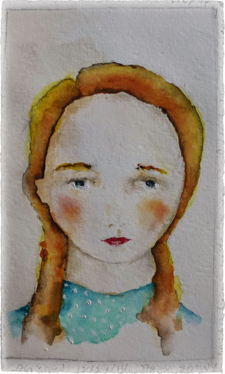 'tree girl' ~ casein paint, beeswax, watercolors and oil pastels on stillman and birn 'delta' paper - Lynne Hoppe