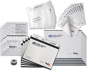 All the GXG shipping supplies you need are in one convenient kit which contains:   5 GXG envelopes (EP 16-A)   5 GXG plastic envelopes (EP 16-B)   1 roll of GXG stickers (Stickers 107RGG3)   10 GXG mailing labels (Label 11FGG1)    5 GXG commercial invoices (Customs Form 6182)    5 customs form envelopes (Form 2976-E)