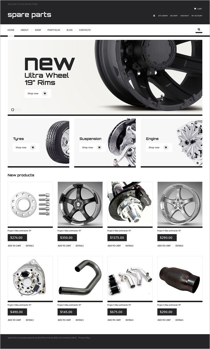 Online Auto Parts stores and Spare Parts stores are the hot topic of the day. The ideal themes, template designs and plugins for these stores can be really difficult to come across. We have created a collection of unlimited number of such Best Jigoshop Themes which make it possible to set up shop online and create your niche amidst the competition.