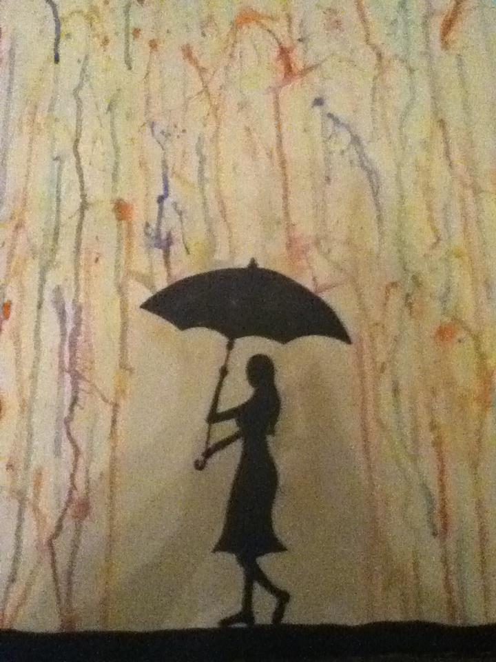Waterverf schilderij door mijn zus (Nina) gemaakt