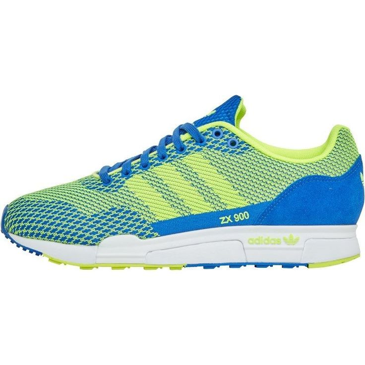 Mens Adidas Originals Green/Blue/White ZX 900 Weave Trainers UK Sizes 8 -