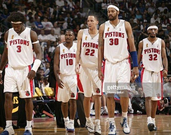 Ben Wallace Hunter Prince Rasheed Wallace Rip Hamilton Benwallace Bigben Wallace Lindsayhunter Hun Detroit Sports Detroit Pistons Behind The Scenes
