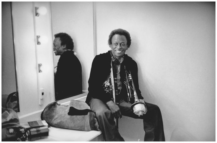 The King of Cool Miles Davis hanging backstage at San Francisco's Winterland Ballroom