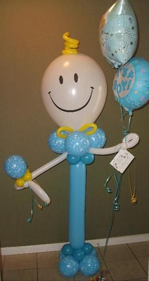 "#CH18 - It's A Boy Stand Up Character with 18"" Foil Balloon, Delivery in the Tulsa Area"