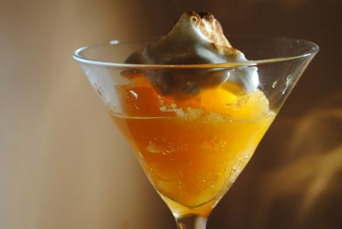 Clementine Sorbet with Meringue Topping | Recipe