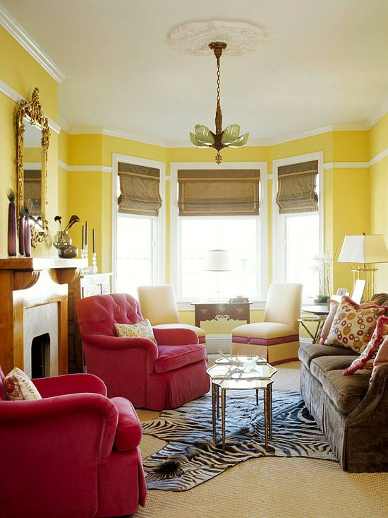 237 best Home Tours Living Rooms images on Pinterest Farmhouse - yellow living room walls