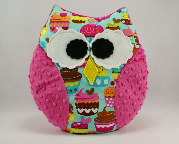 #cupcake #pink #kids #forkids #handmade #owl #littlesophie #pillow buy it now on www.littlesophie.pl