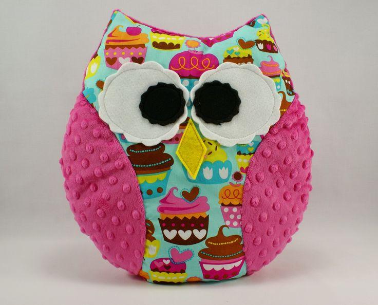 #cupcake #pink #kids #forkids #handmade #owl #littlesophie #pillow buy it now on www.littlesophie.pl