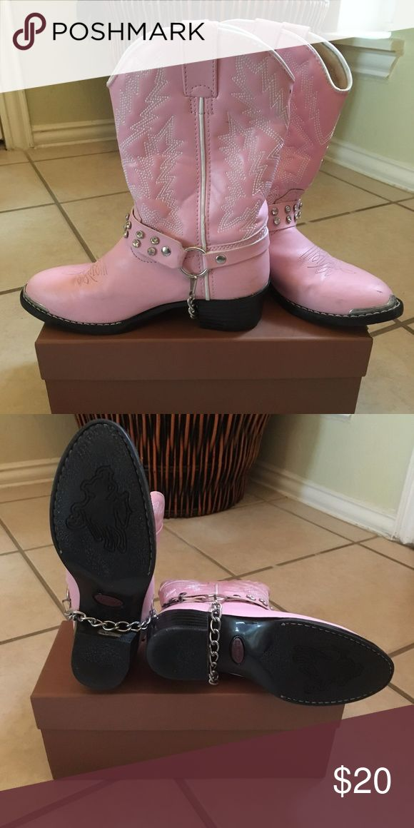 Pink Cowgirl Boots for Girls Adorable Pink Cowgirl Boots for Girls! Great Condition!!!! Durango Shoes Boots