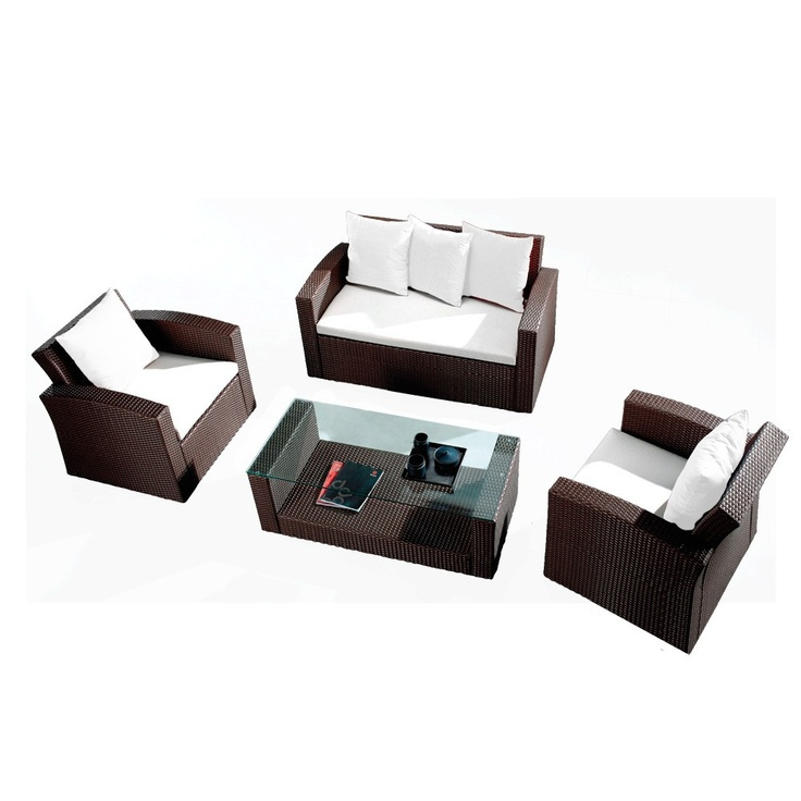 Polyrattan Sofa Set Two Brown   By Benedomi Retail Price)