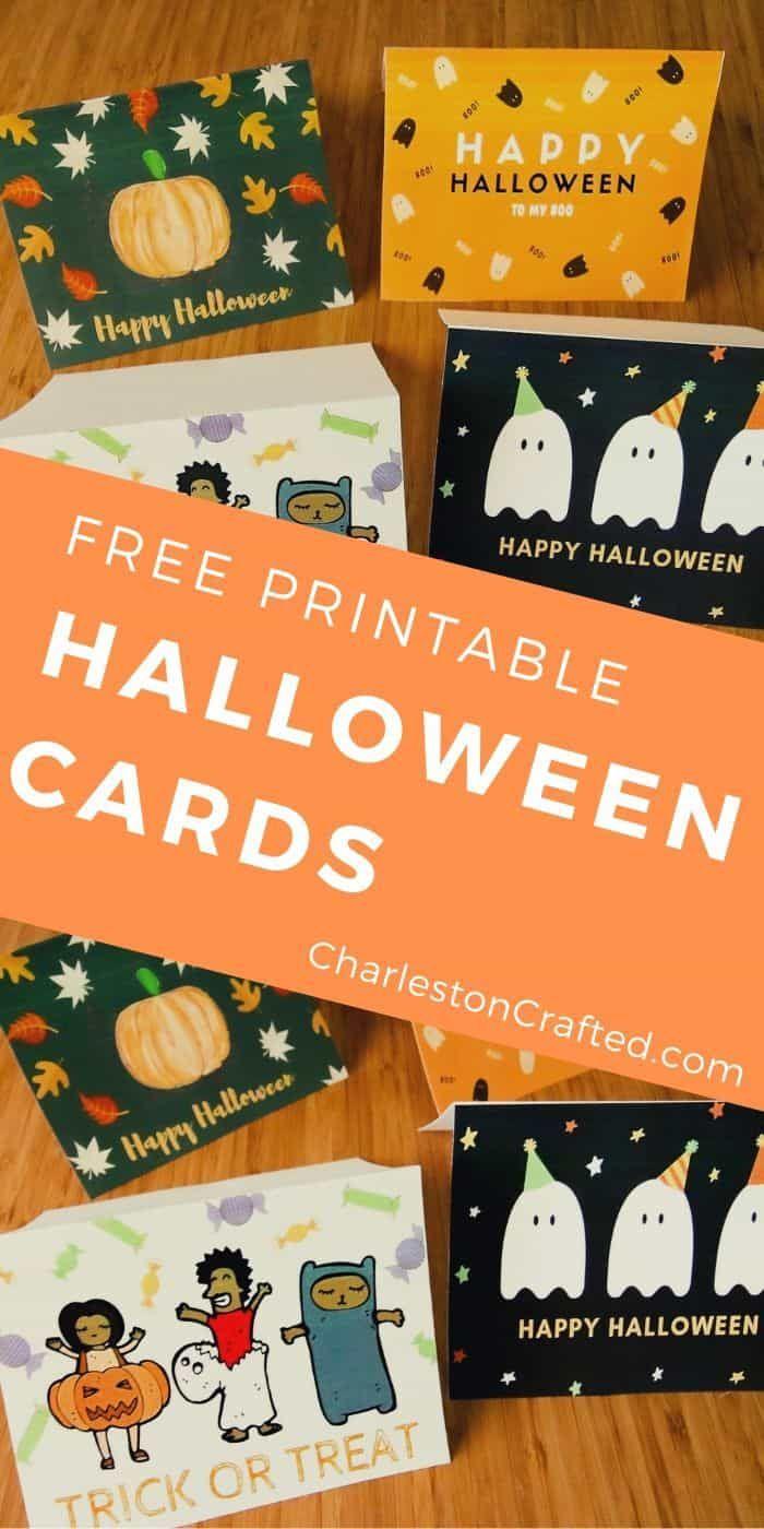 Free Printable Halloween Greeting Cards Happy Halloween Cards Halloween Greeting Card Halloween Cards Diy