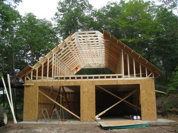 Garage with Loft Blueprints   Garage Loft Designs
