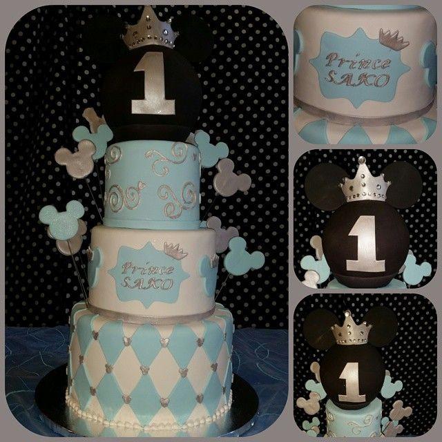 #birthdayparty #birthday #birthdayboy #birthdaycake #birthdayprince #1stbirthday #thebigone #cake #birthdaycake #disneyfan #mickeymouse #royalmickey #princemickey #instafood #instalikes #cakedecorating #pastrychef @blueglamourgirl