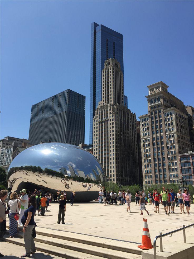 Chicago, IL. #chicago #thebean #mileniumpark #sunny
