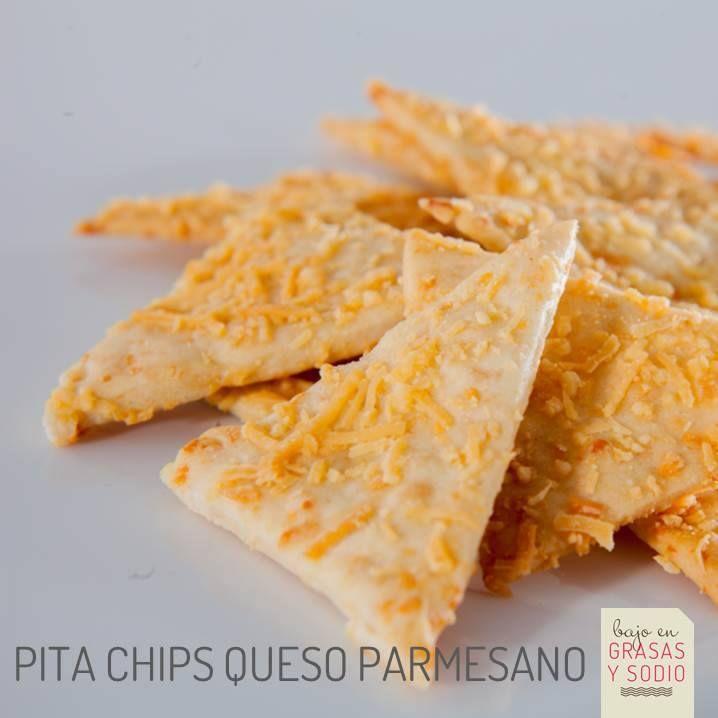 Pita Chips de queso parmesano ricos en Ácido Folico, Hierro y Calcio