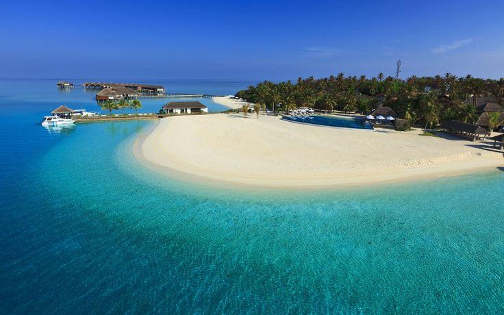 Maldives Luxury Resort Iphone Panoramic Wallpaper HD Pic