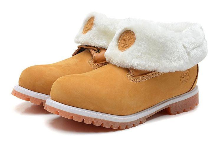 Timberland Roll-Top Boots Herresko Brun Hvid