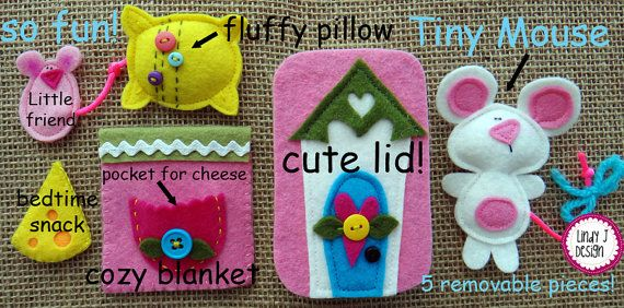 Sweet Dreams Tiny Mouse  Altoid TIN BOX Play Set PDF Pattern