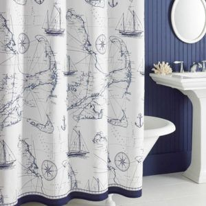 Seaside Themed Shower Curtains