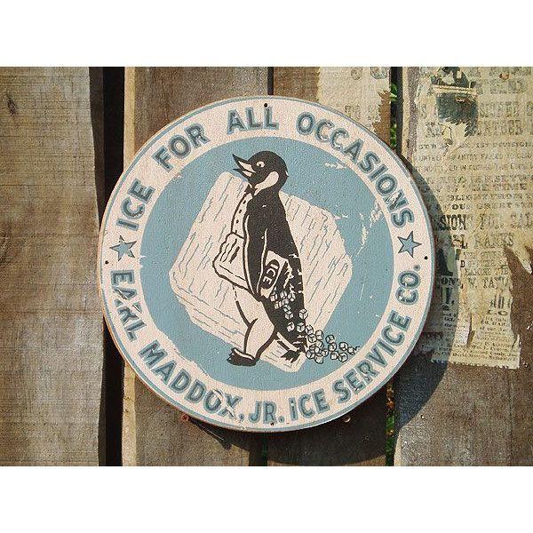 昔のアドバタイジングのウッドサイン シリーズ第二弾(ペンギン) アメリカ雑貨 アメリカン雑貨 壁掛け インテリア おしゃれな部屋 人気 ビンテージ風|candytower