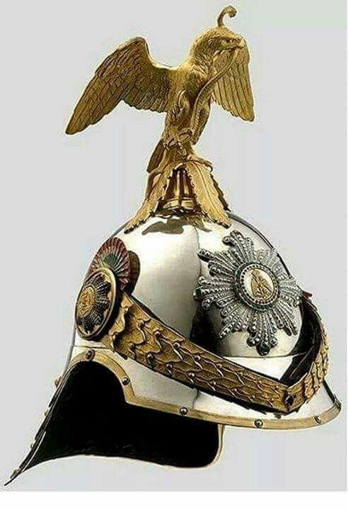 - Casco de la Guardia del Palacio Imperial de México durante el Segundo Imperio mexicano ./tcc/