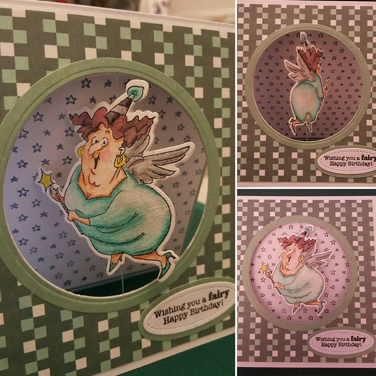 Art Impressions Rubber Stamps: Fairy Spinner: Ai Spinners... handmade card. interactive