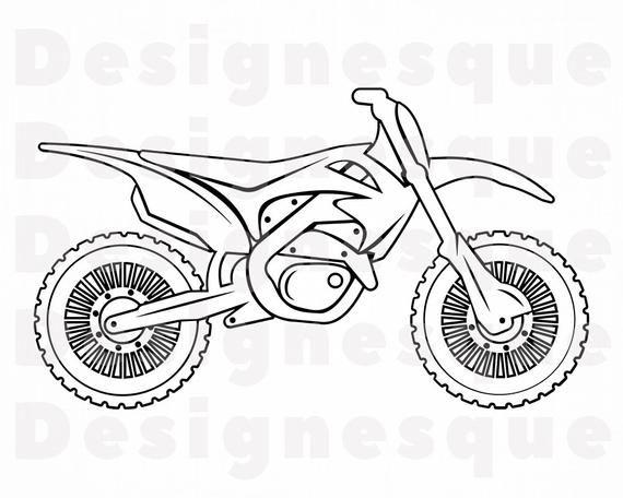 Dirt Bike Outline Svg Dirt Bike Svg Motocross Svg Dirt Bike Etsy In 2021 Bike Drawing Easy Doodles Drawings Motorcycle Drawing