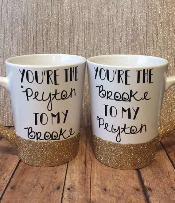 Customized Best Friends Mug Set  One Tree Hill Greys