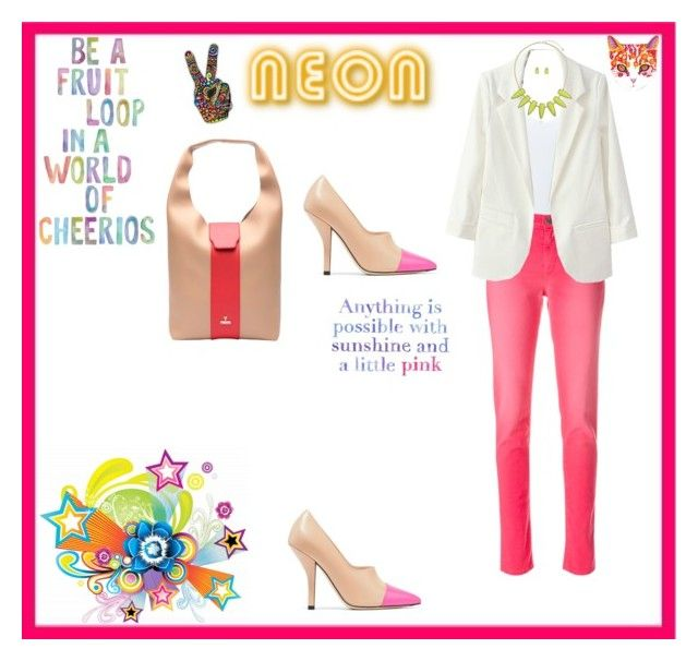 """N E O N"" by leah-baritone ❤ liked on Polyvore featuring Simplex Apparel, Alyx, BERRICLE, Lilly Pulitzer, neon, jeans and fashionset"
