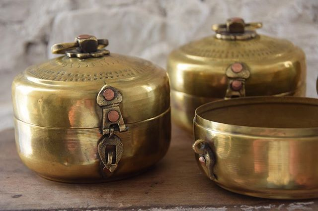 Our handmade Indian Tiffins make beautiful jewellery boxes for all of your special treasures.
