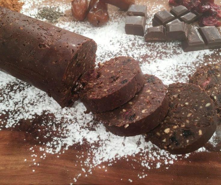 Σαλάμι σοκολάτας χωρίς ζάχαρη (super food)
