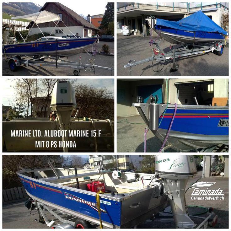 Fischerboot Marine 15 F. Wie NEU #caminadawerft #fischerboot #luzern #schweiz Info: http://www.caminadawerft.ch/boote/admiral-marine-ltd-aluboot-marine-mit-8-ps-honda/  👍 Schweizer Bootshändler Caminadawerft für Neu- und Gebrauchtbode