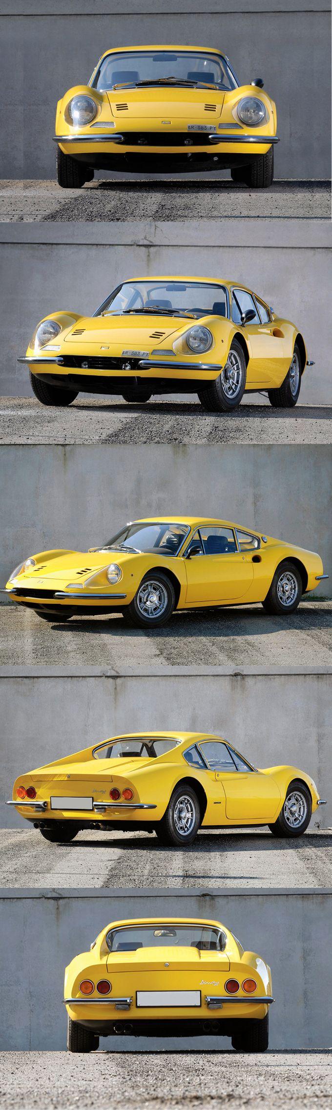 1966 Dino 206 GT / 180hp 2.0l V6 / Ferrari / yellow / Italy