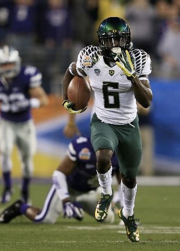 Oregon all-purpose speedster De'Anthony Thomas on one of his two Fiesta Bowl TDs #GoDucks