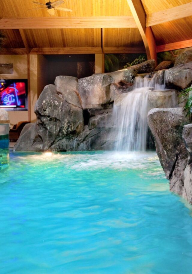 57 best images about spa la la on pinterest wellness for Luxury pools with waterfalls