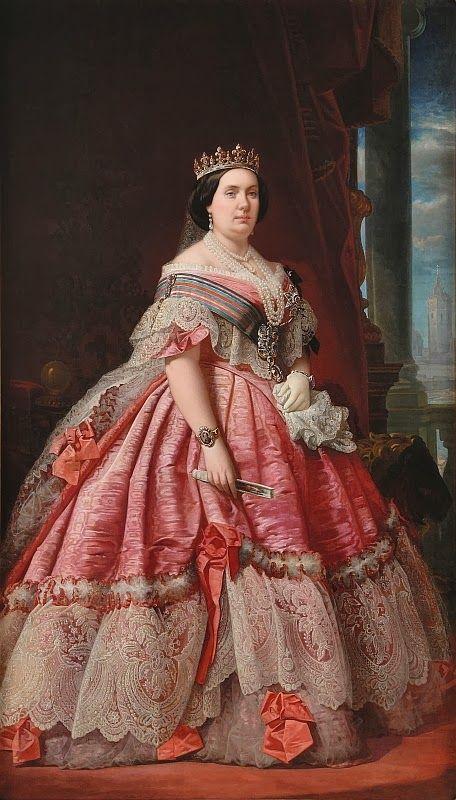 Isabel II de España----------Antoine de Montpensier vivido en España desde 1848, cuando él y su familia tuvo que salir de Francia después de la Revolución de 1848. Durante la revolución española de 1868 , que apoya a los insurgentes bajo Juan Prim contra la reina Isabel II de España , su propia cuñada