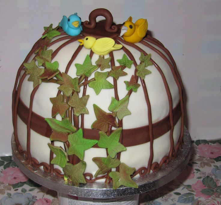 low birdcage cake