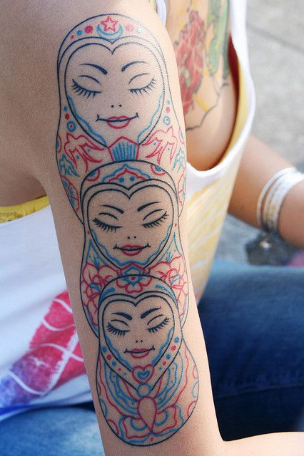 Matryoshka Doll Arm Tattoo    Photo by Sherrie Thai of Shaireproductions.