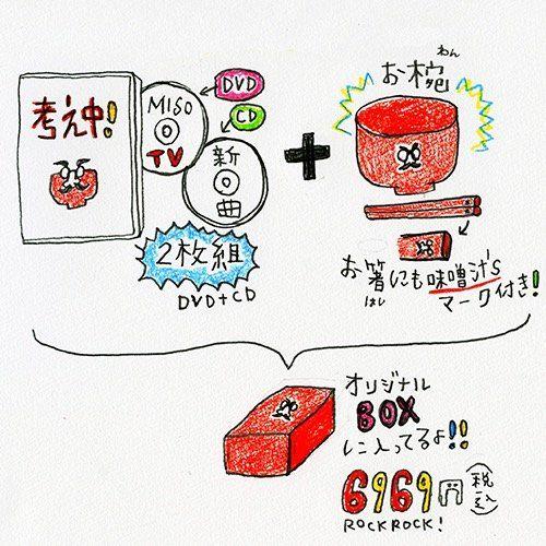 味噌汁's「MISO TV & SONGS スペシャル」説明イラスト
