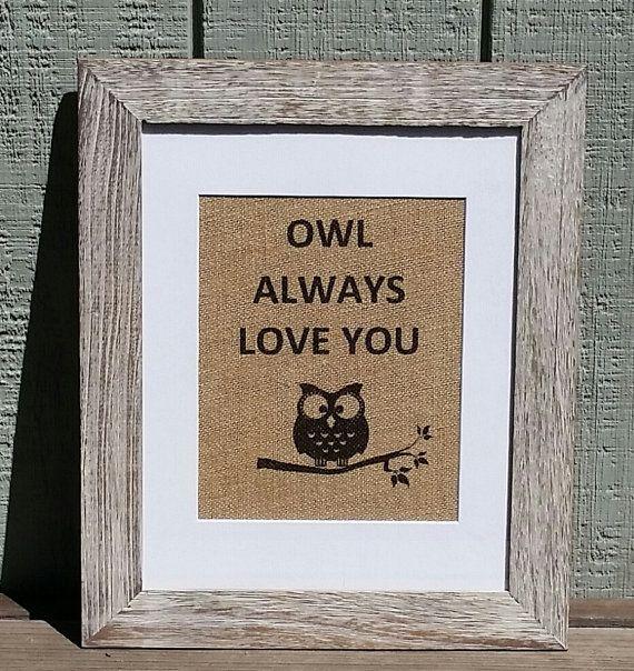Rustic,Rustic nursery,Owl nursery,Baby shower,Owl theme,Wedding,Burlap sign,Tree,Love,Birthday,Bird, by SignsofBurlap on etsy.com